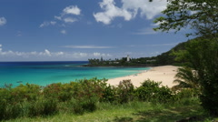 Waimea Bay North shore Oahu Hawaii Stock Footage