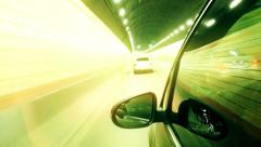 Timelapse: people driving car in Shanghai tunnel cross Huangpu river Stock Footage