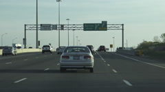 Driving East on QEW , Ontario Stock Footage