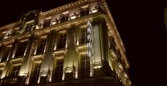 Luxury hotel facade Stock Footage