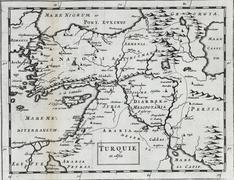 Antique map of Turkey in Asia Kuvituskuvat