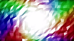 Rainbow polygon background Stock Footage