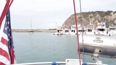 Dana Point, California Boat Harbor Stock Footage