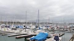 Dana Point, California Harbor Aerial View - stock footage