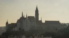 Sunset Timelapse Of Albrechtsburg Castle In Meissen Germany Stock Footage