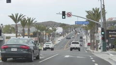 Driving through Dana Point, California  Stock Footage