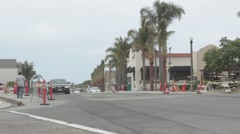 Road Constrution in Dana Point, California Stock Footage
