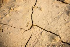 Abstract background of cracked earth - stock photo