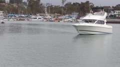 Yacht in Dana Point Harbour Stock Footage