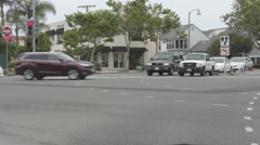 Street Intersection in Dana Point, California #2 Stock Footage