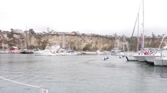 Sailing through Dana Point Boat Harbor #2 Stock Footage