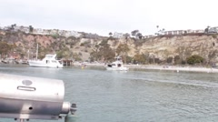 Sailing through Dana Point Boat Harbor #6 Stock Footage