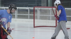 Hockey Practice (9 of 10) Stock Footage