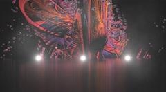 virtual studio stage lights and smoke - stock footage