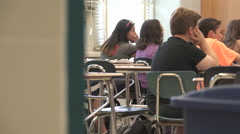 Students working in classroom (8 of 17) - stock footage