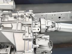 Gearbox 4WD with shaft drive Stock Photos