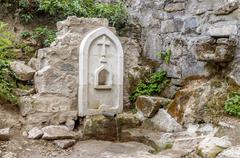 The  Holy Source  of the Surb Khach Convent, Crimea. - stock photo