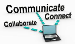 Communicate and Collaborate Stock Illustration