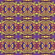 authentic seamless floral geometric pattern, ethnic ukrainian ca - stock illustration