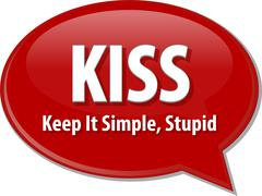 KISS acronym word speech bubble illustration Stock Illustration
