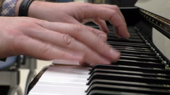 Stock Video Footage of Pianist hands closeup