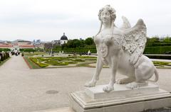 Stock Photo of Belvedere palace woman statue