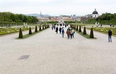 Belvedere palace and museum Vienna Stock Photos
