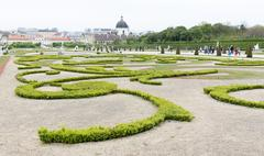 Belvedere palace and museum Vienna - stock photo
