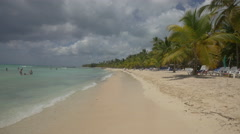 Swimming and relaxing on Saona Island, Dominican Republic Stock Footage