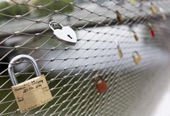 Love padlocks locks Stock Photos