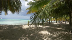 The amazing beach of Punta Cana Stock Footage