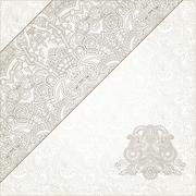 Stock Illustration of light ornamental background with flower ribbon