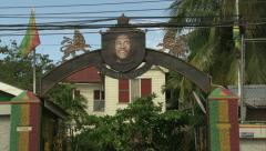 Bob Marley Museum, Hope Road, Kingston Stock Footage