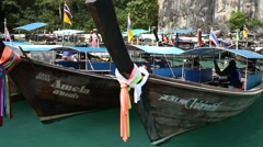 Longtail boat Thailand Stock Footage