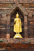 Buddha image in North of  Thailand - stock photo