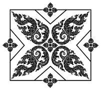 Stock Illustration of Beautiful Thai art pattern