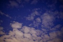 Stars at the nigth sky - stock photo