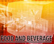 Food & Beverage Abstract concept digital illustration - stock illustration