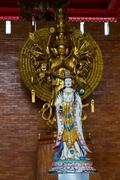 Guan yin in chinese temple of thailand Stock Photos