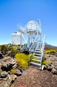 Stock Photo of Telescopes of the Teide Astronomical Observatory