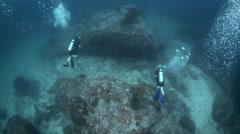 Stock Video Footage of Scuba divers underwater