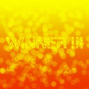 Winner on orange light blur background Stock Illustration