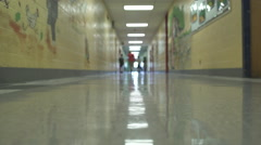 Young students walking down the hall   (2 of 5) - stock footage