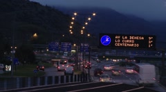 Time Lapse of  Highway in Santiago chile  at eventide Stock Footage