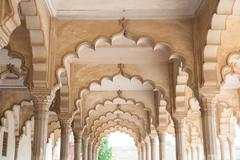 Agra Fort Diwan I Am (Hall of Public Audience), India. - stock photo