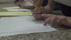 Young students doing school work (1 of 8) Stock Footage