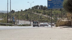 Trafic on the road to Bethlehem (time lapse) Stock Footage