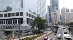 Bank of China Tower in Hong Kong Stock Footage