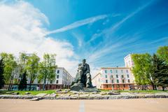 Monument In Honor Of The National Poet And Writer Of Belarus Yak - stock photo