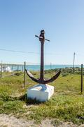 South Africa Paternoster ZA Anchor Monument Stock Photos